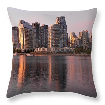 Throw Pillow featuring the photograph Vancouver Bc Waterfront Condominiums by JPLDesigns