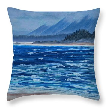 Vancouver Coast Throw Pillow