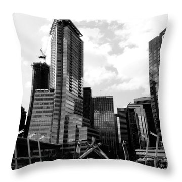 Vancouver Olympic Cauldron- Black And White Photography Throw Pillow by Linda Woods