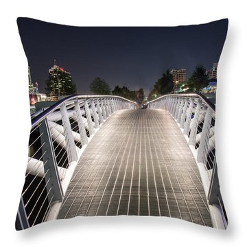 Vancouver Olympic Village Canoe Bridge - By Sabine Edrissi  Throw Pillow