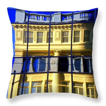 Vancouver Reflections 2 Throw Pillow by Randall Weidner