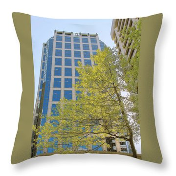 Vancouver Silhouettes No 1 Throw Pillow by Ben and Raisa Gertsberg