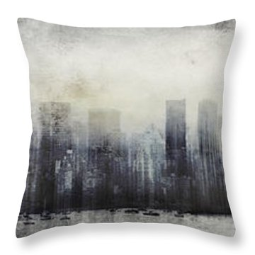 Vancouver Skyline Abstract 1 Throw Pillow