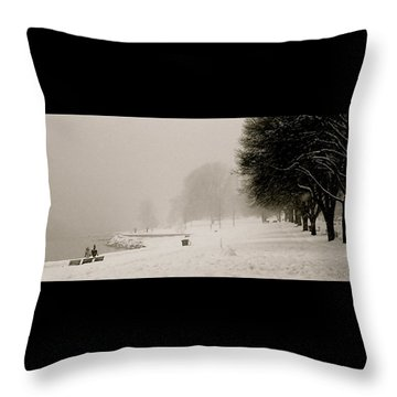 Vancouver Winter Throw Pillow