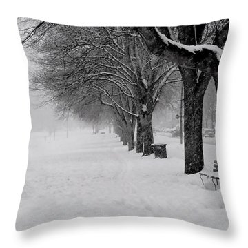 Vancouver Winter Trees Throw Pillow