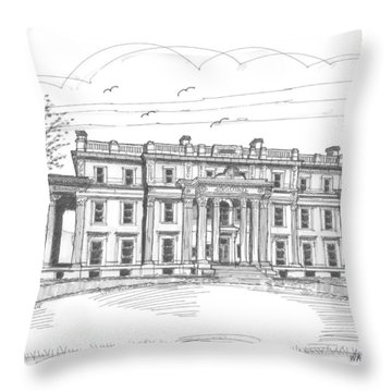 Vanderbilt Mansion Throw Pillow