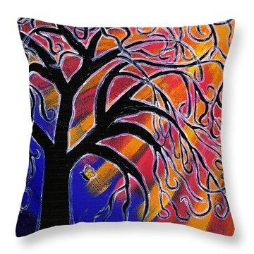 Vanessa Throw Pillow by Vicki Maheu