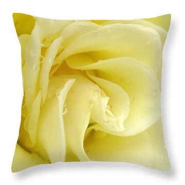 Vanilla Swirl Throw Pillow