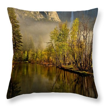 Vanishing Mist Throw Pillow