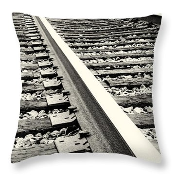 Vanishing Point Throw Pillow by Caitlyn  Grasso