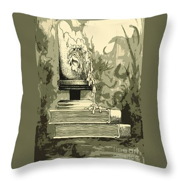 Bougie Throw Pillow by Julio Lopez