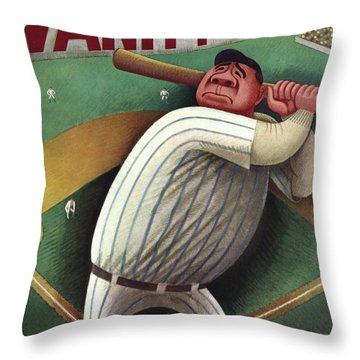 Babe Ruth Throw Pillows