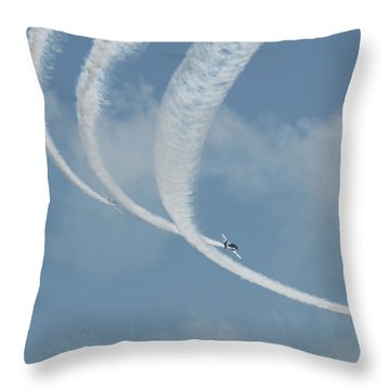 Vapor Trails In The Empty Air Throw Pillow by Mustafa Abdullah