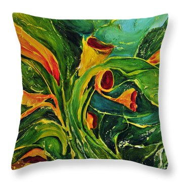 Variation  No.2 Throw Pillow by Teresa Wegrzyn