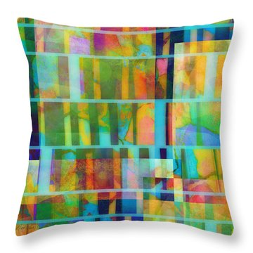 Variation On A Theme Abstract Art Throw Pillow by Ann Powell