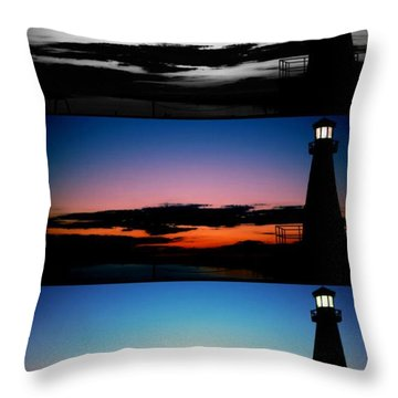 Variations Of Lighthouse Throw Pillow