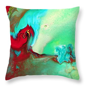 Variety - Colorful Fluid Abstract Art By Kredart Throw Pillow