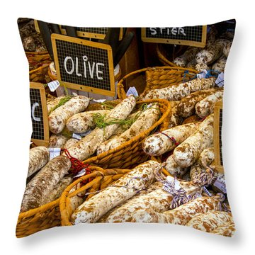 Variety Of Flavors Throw Pillow by Bob Phillips