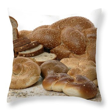 Various Types Of Bread Throw Pillow