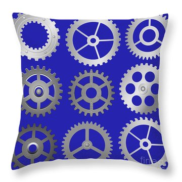 Various Vector Gears Throw Pillow by Michal Boubin