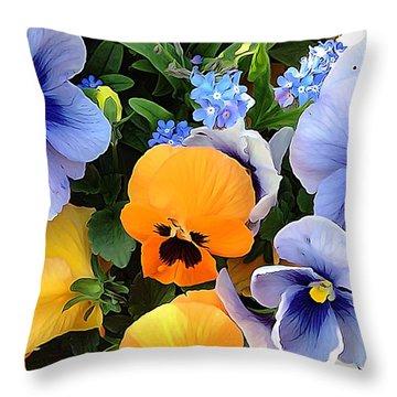 Throw Pillow featuring the photograph Various Violets by Gabriella Weninger - David