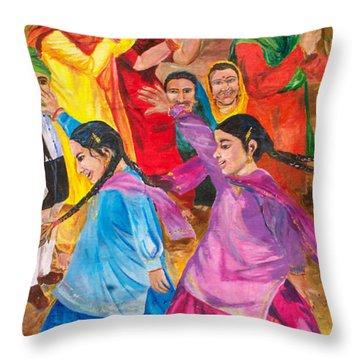 Vasakhi In A Punjab Village Throw Pillow