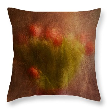 Vase Of Tulips  Throw Pillow by Alana Ranney