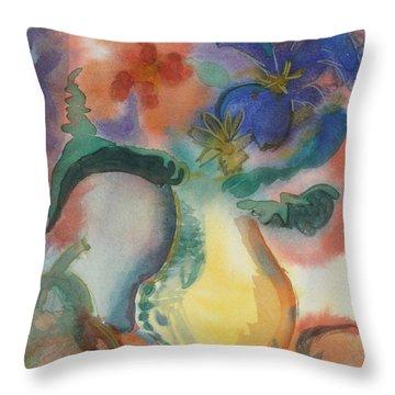 Vase Still Life 1 Throw Pillow
