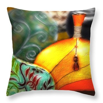 Vases Throw Pillow by Nina Bradica