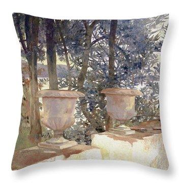 vasi a Corfu Throw Pillow by Guido Borelli