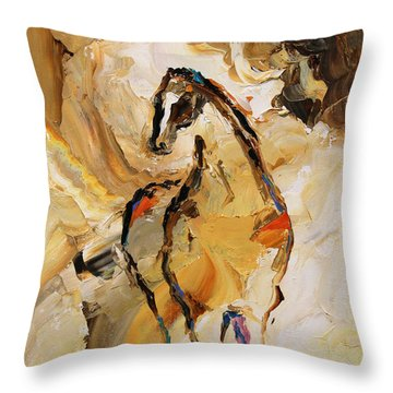 Vast Horse 7 Of 100 2014 Throw Pillow