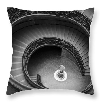 Vatican Stairs Throw Pillow by Adam Romanowicz