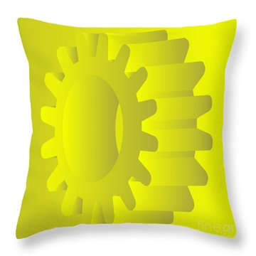Vector Gears Throw Pillow by Michal Boubin