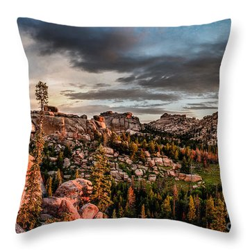 Vedauwoo View Throw Pillow by Steven Reed