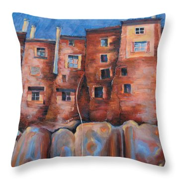 Vedette Facce Italy Throw Pillow