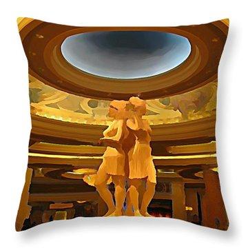 Vegas Hotel Interior Throw Pillow by John Malone