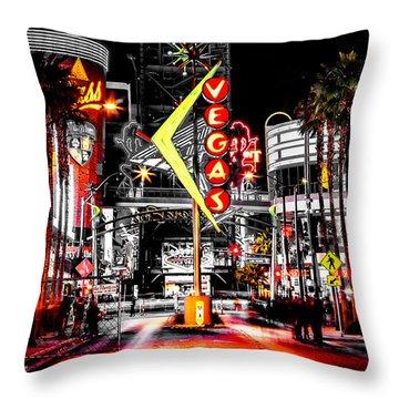 Vegas Nights Throw Pillow by Az Jackson