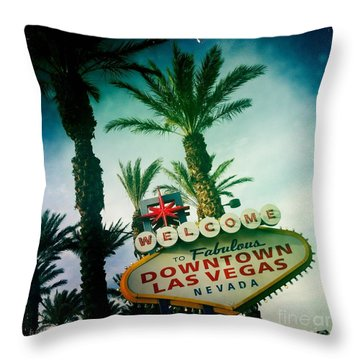 Vegas Throw Pillow by Nina Prommer