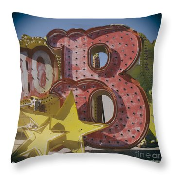 Vegas Red Letter B Throw Pillow