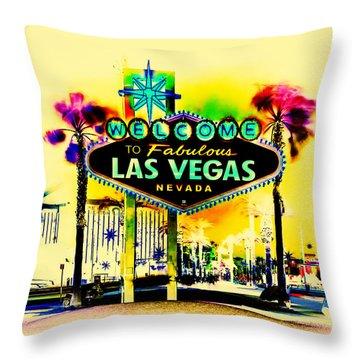 Vegas Weekends Throw Pillow