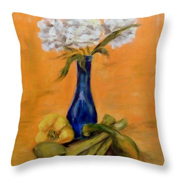 Vegetable Flower Still Life Throw Pillow