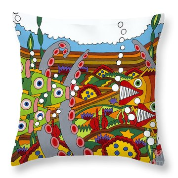 Vegetarians And Meat Eaters Throw Pillow