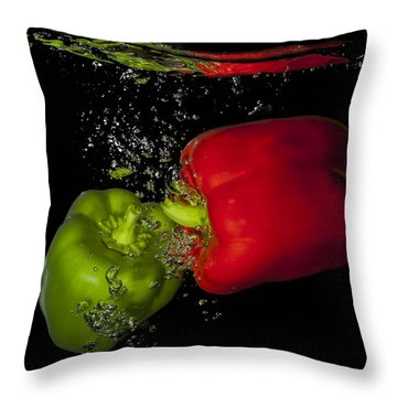 Throw Pillow featuring the photograph Veggie Bath by Vickie Szumigala