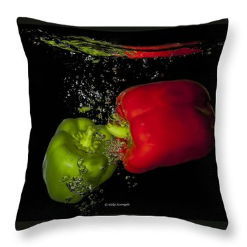 Veggie Bath Throw Pillow