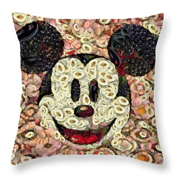 Veggie Mickey Mouse Throw Pillow by Paulette B Wright