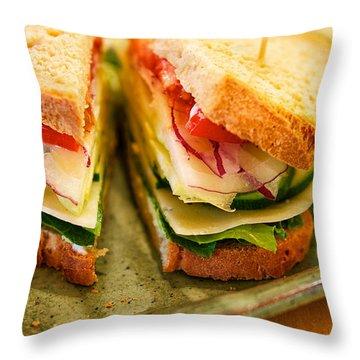 Veggie Sandwich Throw Pillow