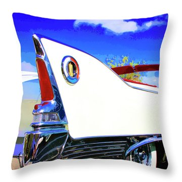 Vehicle Launch Palm Springs Throw Pillow by William Dey