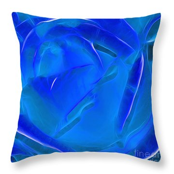 Veil Of Blue Throw Pillow by Kaye Menner