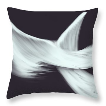 Throw Pillow featuring the painting Veil by Roxy Riou
