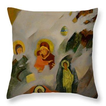 Veiled Throw Pillow by Jukka Nopsanen